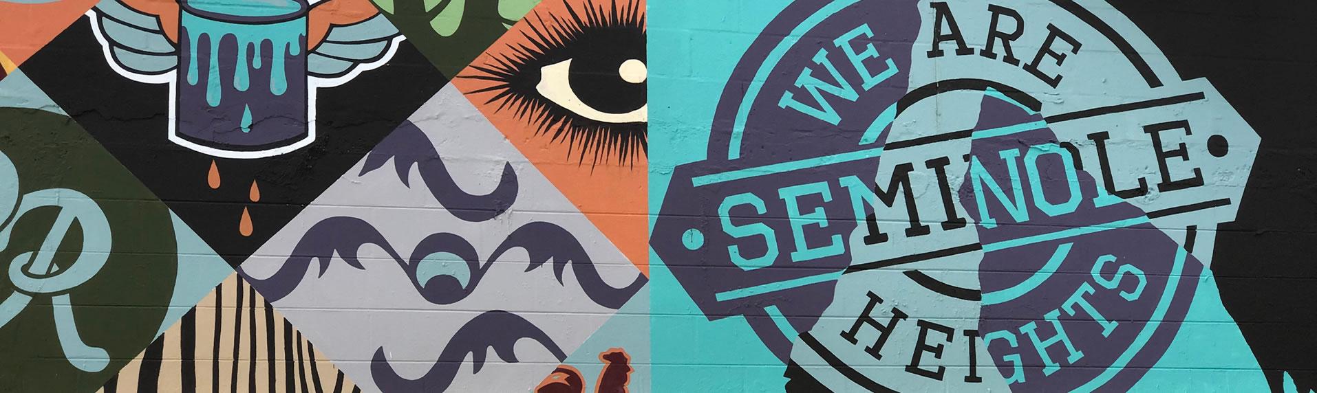 Seminole Heights wall mural